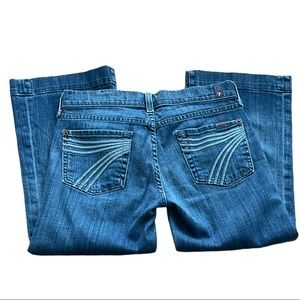 7 For All Mankind Dojo Luxury Denim Capri Jeans